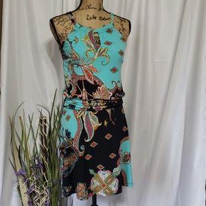 Enfocus Studio Floral Midi Sleeveless Dress